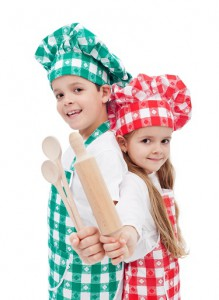Kids ready to cook