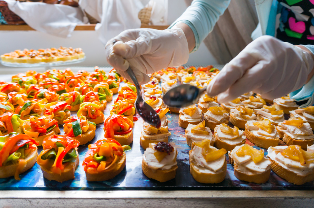 Caterer Preparing Appetizers - Catering in Washington D.C.