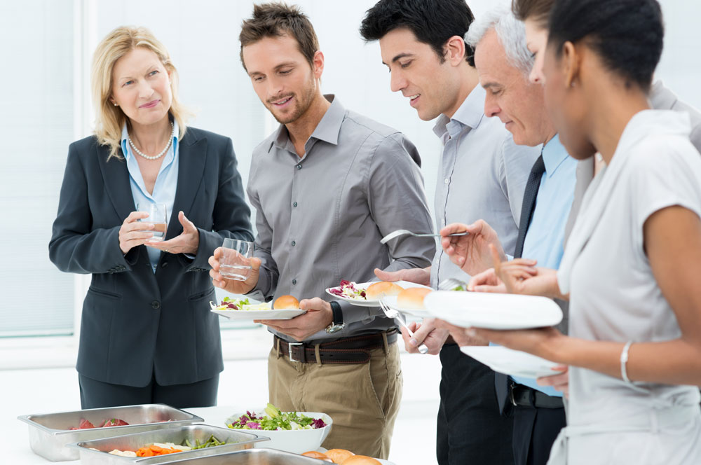 Group Of People Enjoying Catered Meal - Catering in Washington D.C.